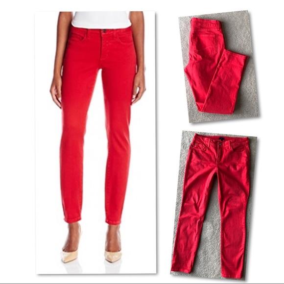 NYDJ Denim - NYDJ jeans red leggings size 10